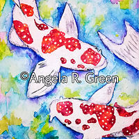 Painting Koi Fish - Splish Splash by Angela Green