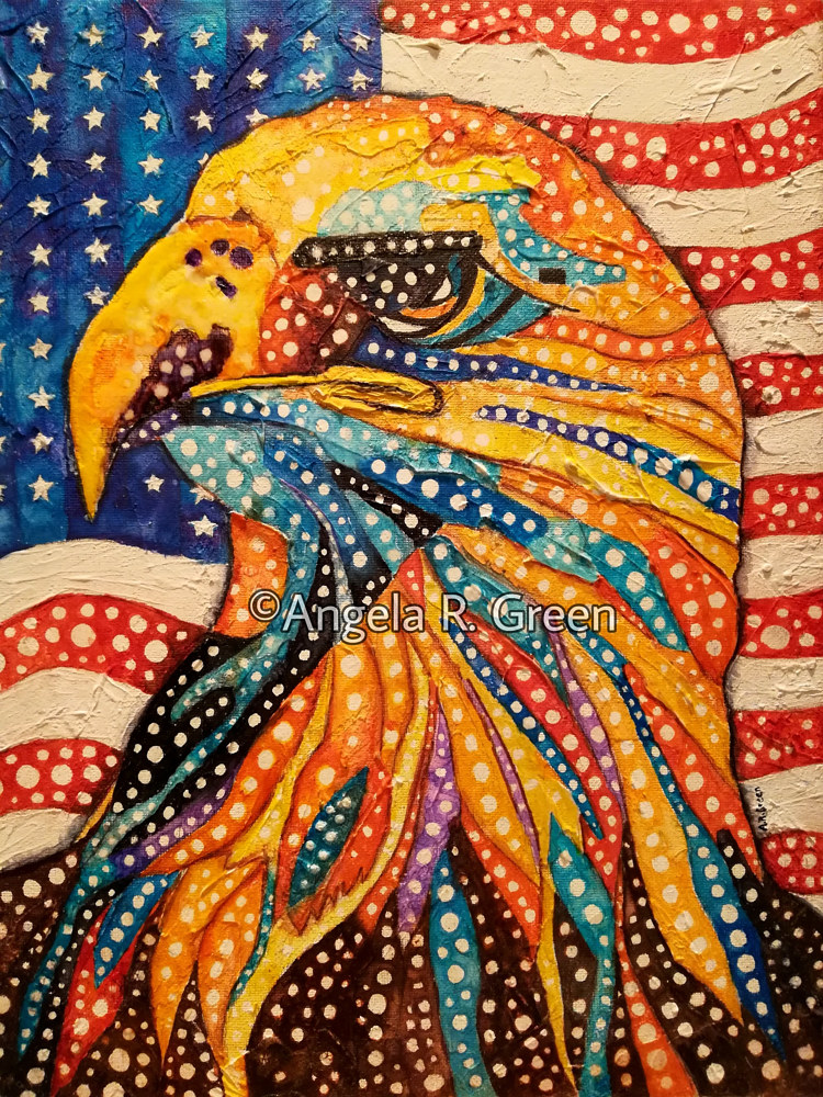 Acrylic painting Born Free by Angela Green