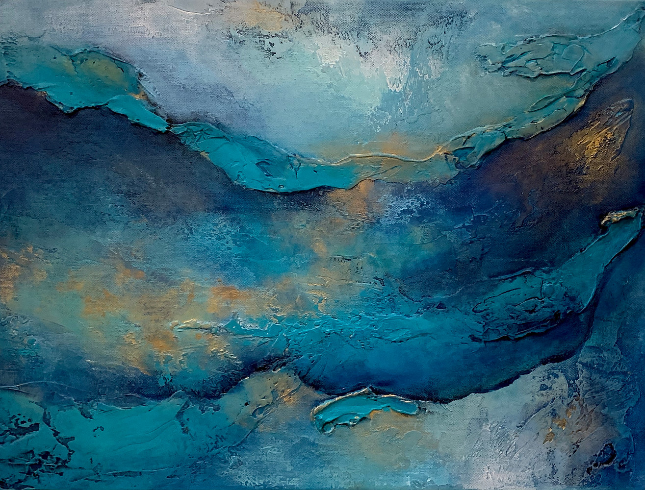 Acrylic painting Parting Waters by Ginger Thomas