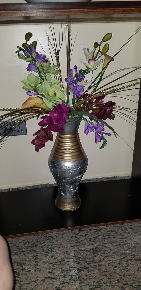 Floral in Silver Vase by Jan Wirth