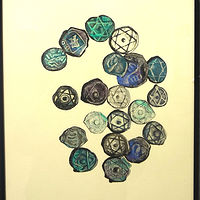 Acrylic painting Monedas by Julie Gladstone