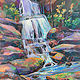 Acrylic painting Cascading Dream by Marty Husted