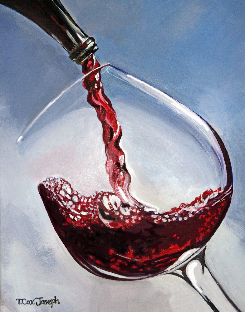 Acrylic painting Cabernet to End the Day copy by Terry Cox-Joseph