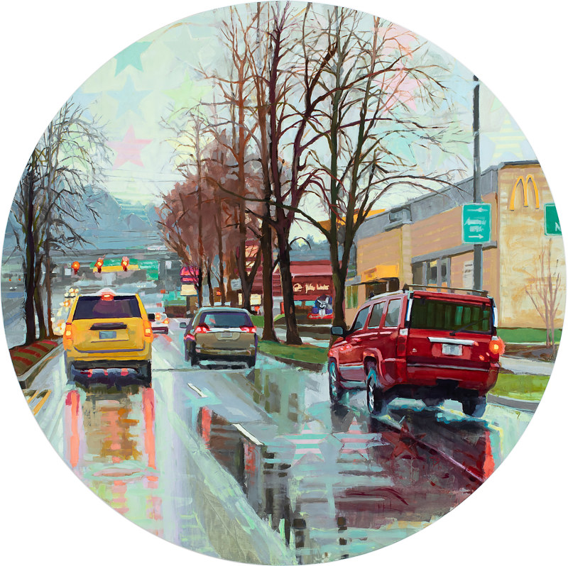 Oil painting Heading out of Town by Shawn Demarest