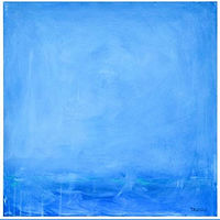 Acrylic painting Blue Beyond by Sarah Trundle