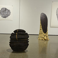 Black Orb (left) Resonance (right) by Troy Nickle