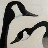 Acrylic painting Angus Pond Geese, 2019 by Edith dora Rey