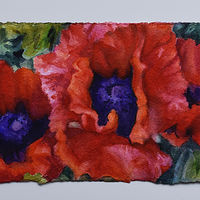 Watercolor Three Poppies by Lisa  Baechtle