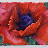Watercolor Poppy 2 by Lisa  Baechtle