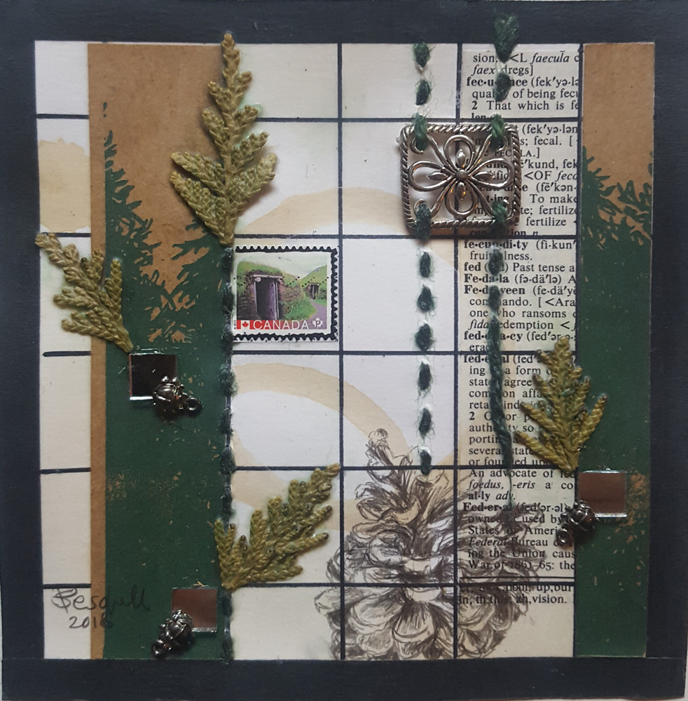Drawing Woodland Stamping Grounds by Sarah Peschell