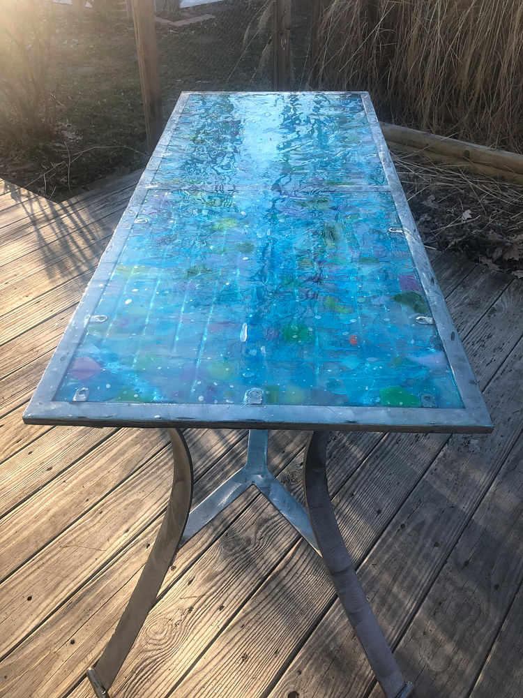 Steel and Glass Table 2 by Steven Simmons