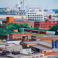 Drawing East, Above Woodward, Detroit by Kathleen Gross