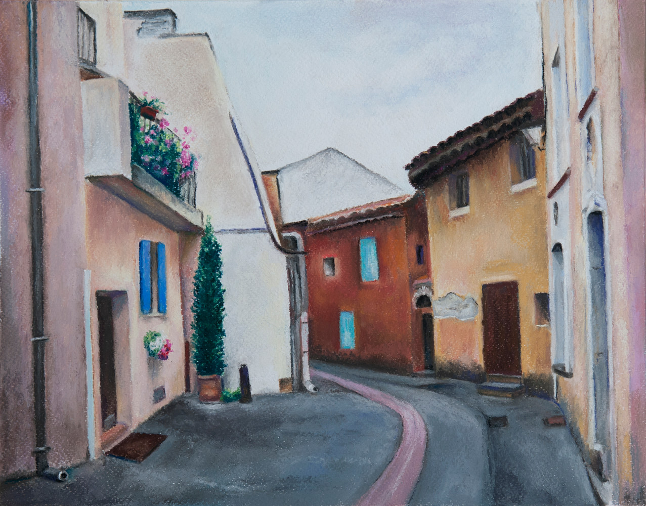 Drawing Around the Corner, Somewhere in France by Kathleen Gross