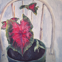 Oil painting Red Leaf by Kathleen Gross
