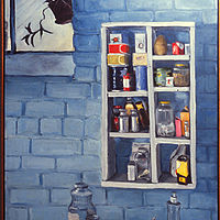Oil painting The Shelf by Kathleen Gross