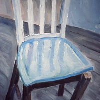 Oil painting Falling Chair by Kathleen Gross