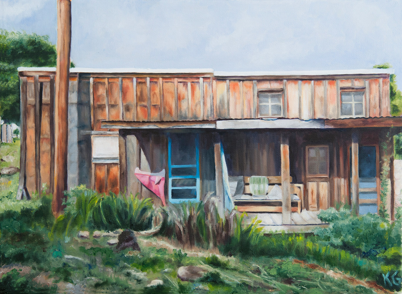 Oil painting Remembering Espanola by Kathleen Gross