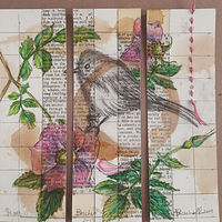 Watercolor Rambling in the Wild Roses by Sarah Peschell