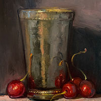 """Cherries & Silver Cup""  by Noah Verrier"
