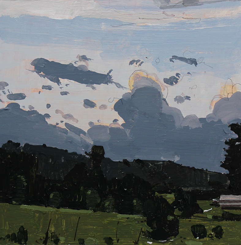Acrylic painting Evening Cloudbank  by Harry Stooshinoff
