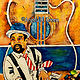 Acrylic painting Jazz by the Beach: Rico  by Angela Green