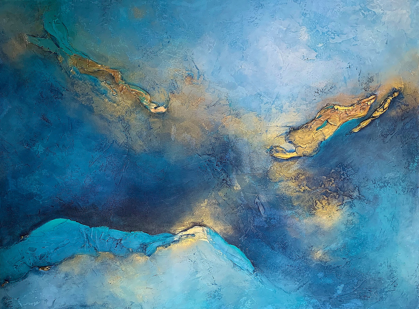 Acrylic painting Water's Edge by Ginger Thomas