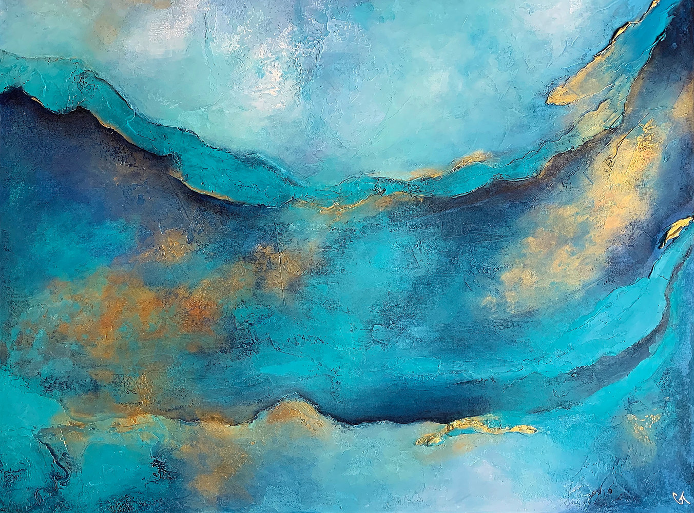 Acrylic painting Out of the Blue by Ginger Thomas