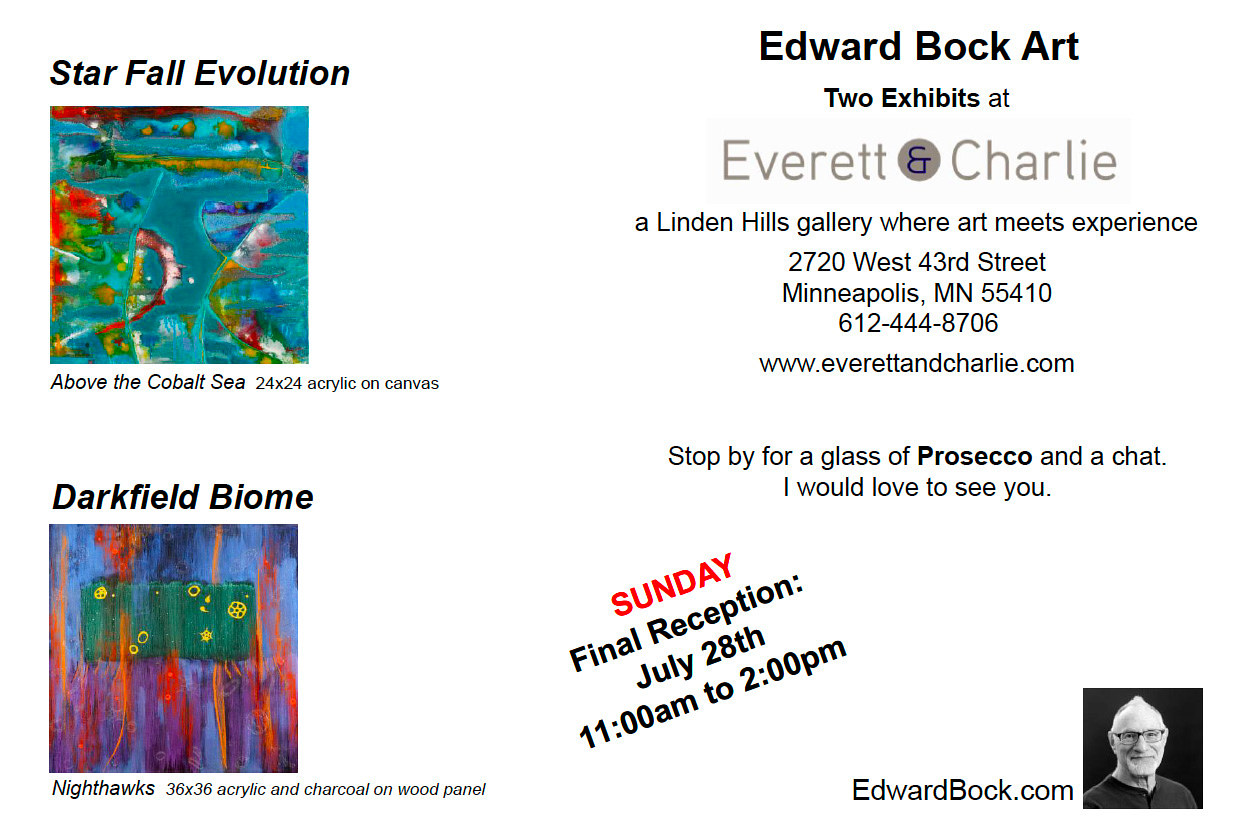 Star Fall Evolution Invite Card by Edward Bock