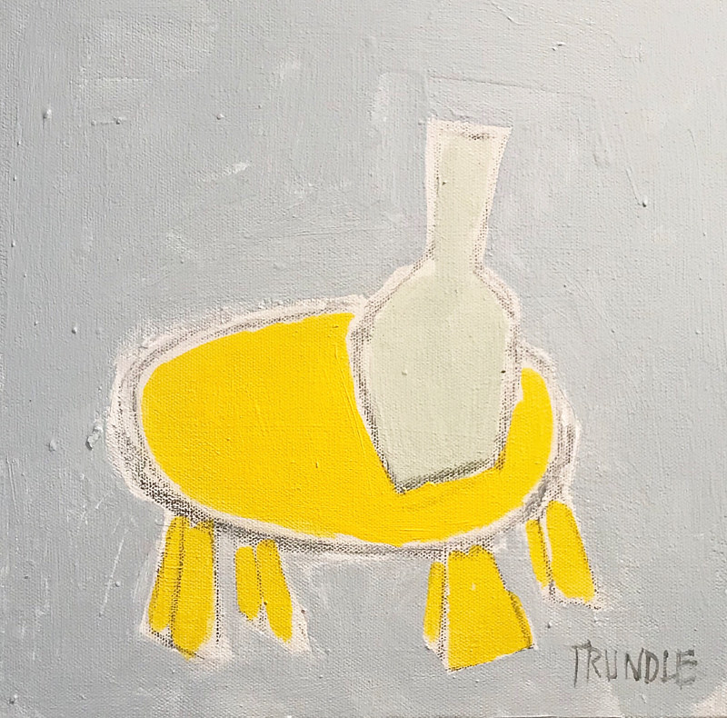 Acrylic painting Yellow Table by Sarah Trundle