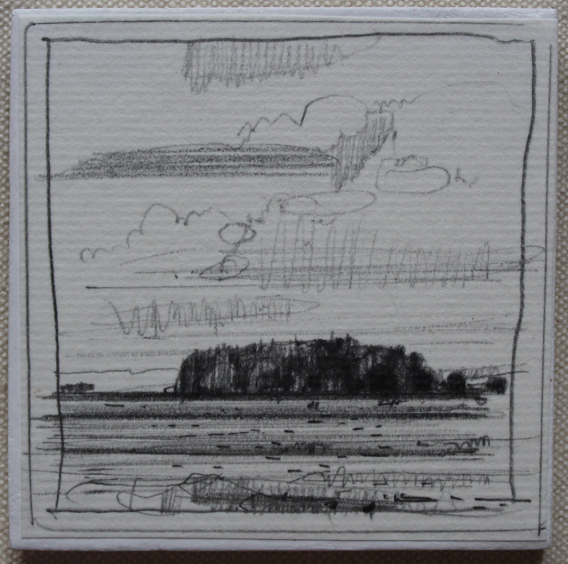 Drawing Gores Landing, July 27 by Harry Stooshinoff