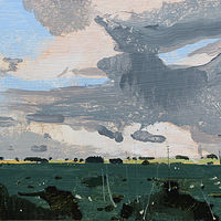Acrylic painting East Sky, July 29 by Harry Stooshinoff