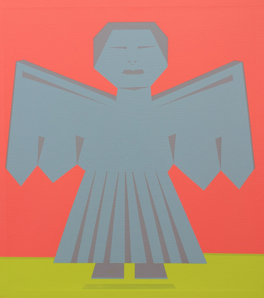 Acrylic painting Angel del Jardin by Jorge Puron