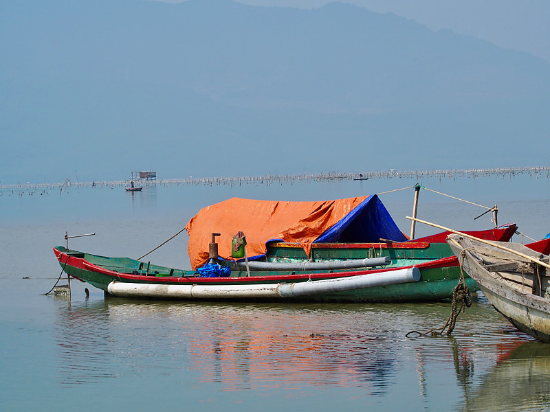 """Orange Boat"" - Vietnam by Ann Williams"