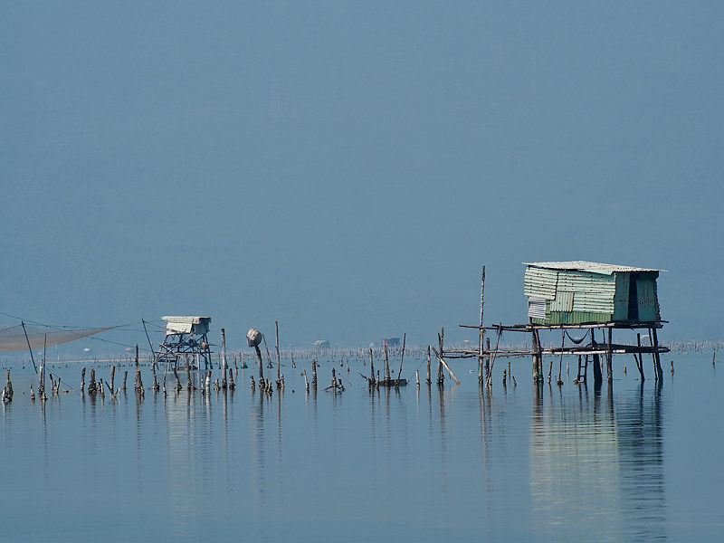 Oyster Farm 2 - Vietnam by Ann Williams