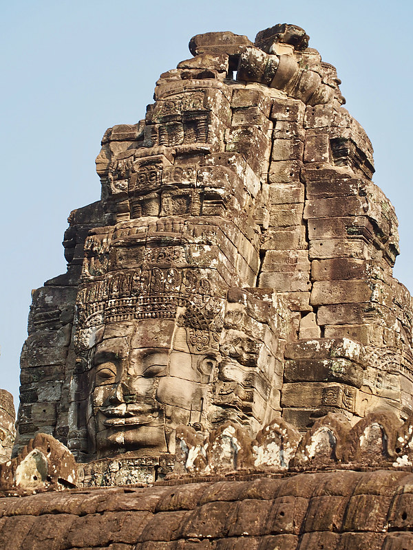 Temple Of Faces 1 - Cambodia by Ann Williams