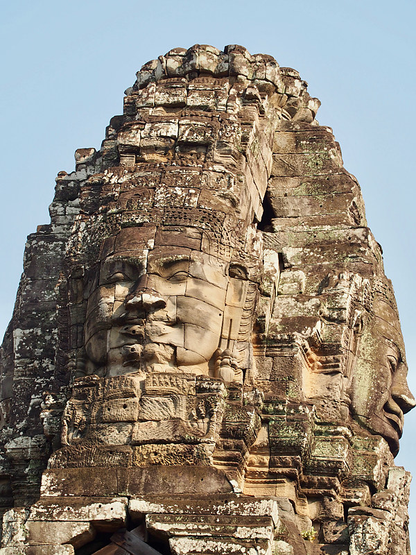 Temple of Faces 5 - Cambodia by Ann Williams