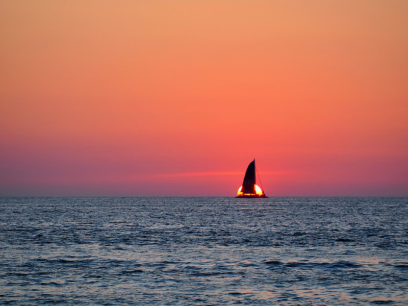 Sails in the Sunset - Phuket by Ann Williams