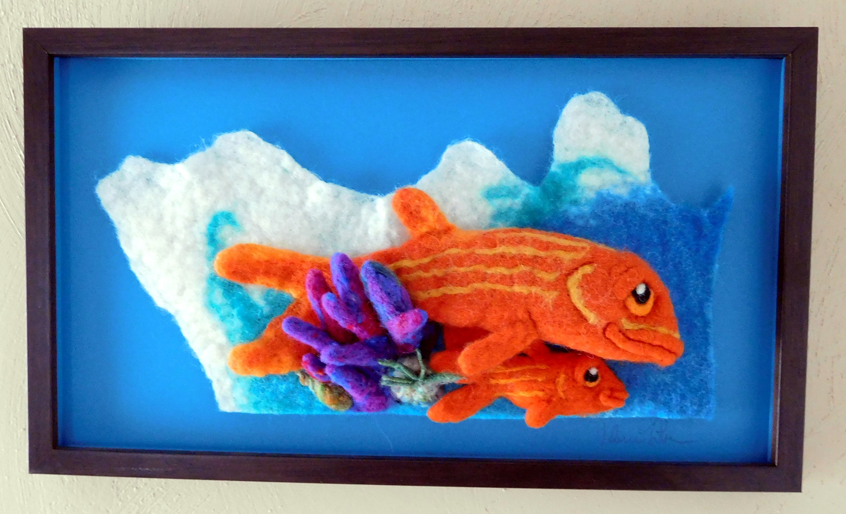 Orange Striped Fish by Valerie Johnson