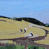 Acrylic painting August Wheat by Harry Stooshinoff