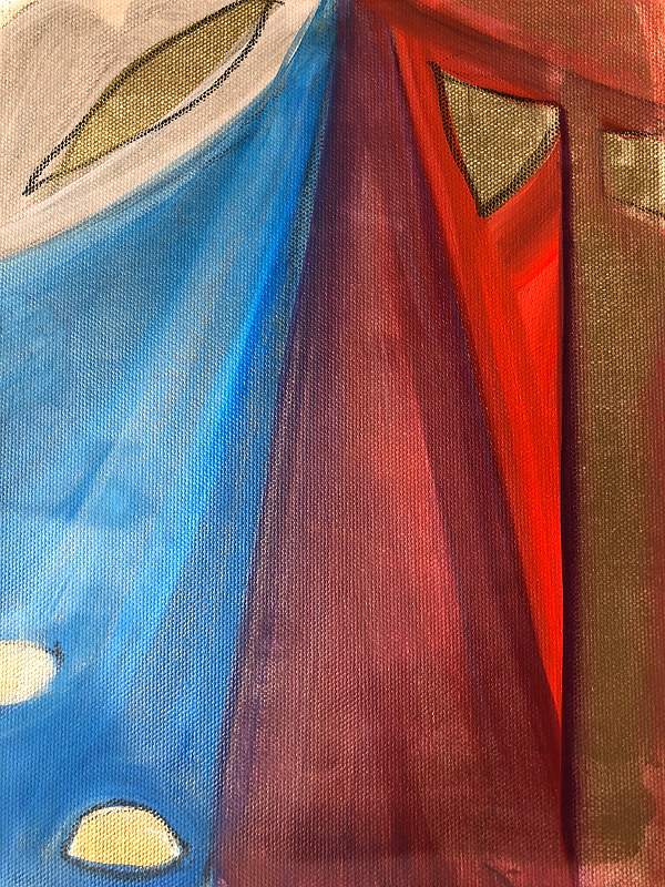 Oil painting Study from Giotto's Robes  by Patricia Rain Gianneschi