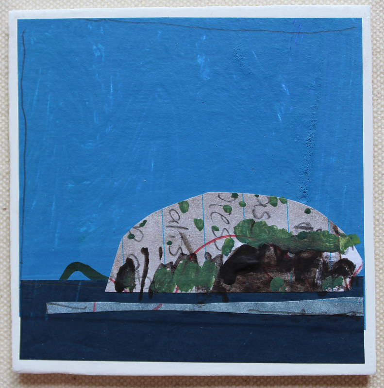 Acrylic painting Little Island by Harry Stooshinoff