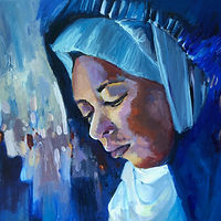 Painting Hooded Blue by Ariel Lyons