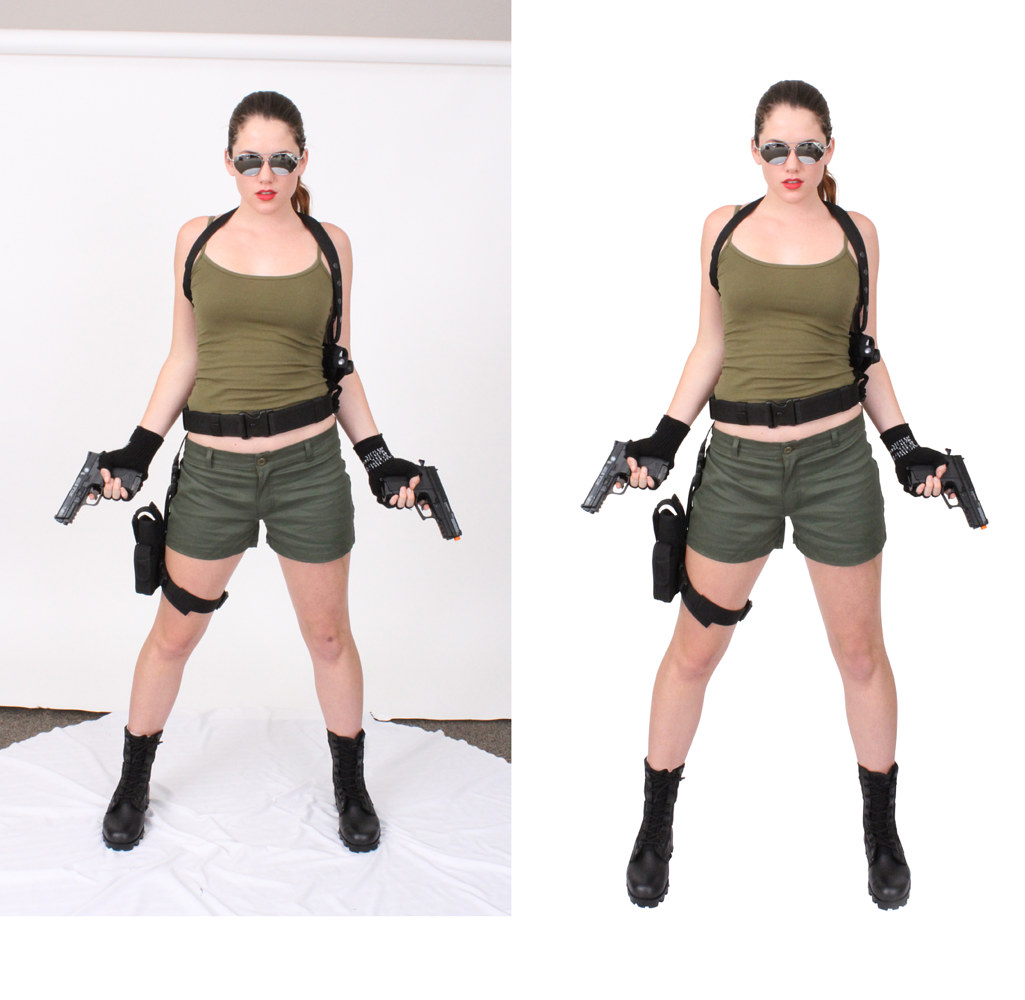 Lara Croft-Before & After by Steve Ferris
