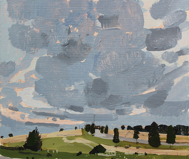 Acrylic painting On the Hill  by Harry Stooshinoff