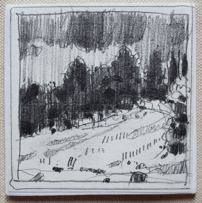 Drawing August Rain  by Harry Stooshinoff