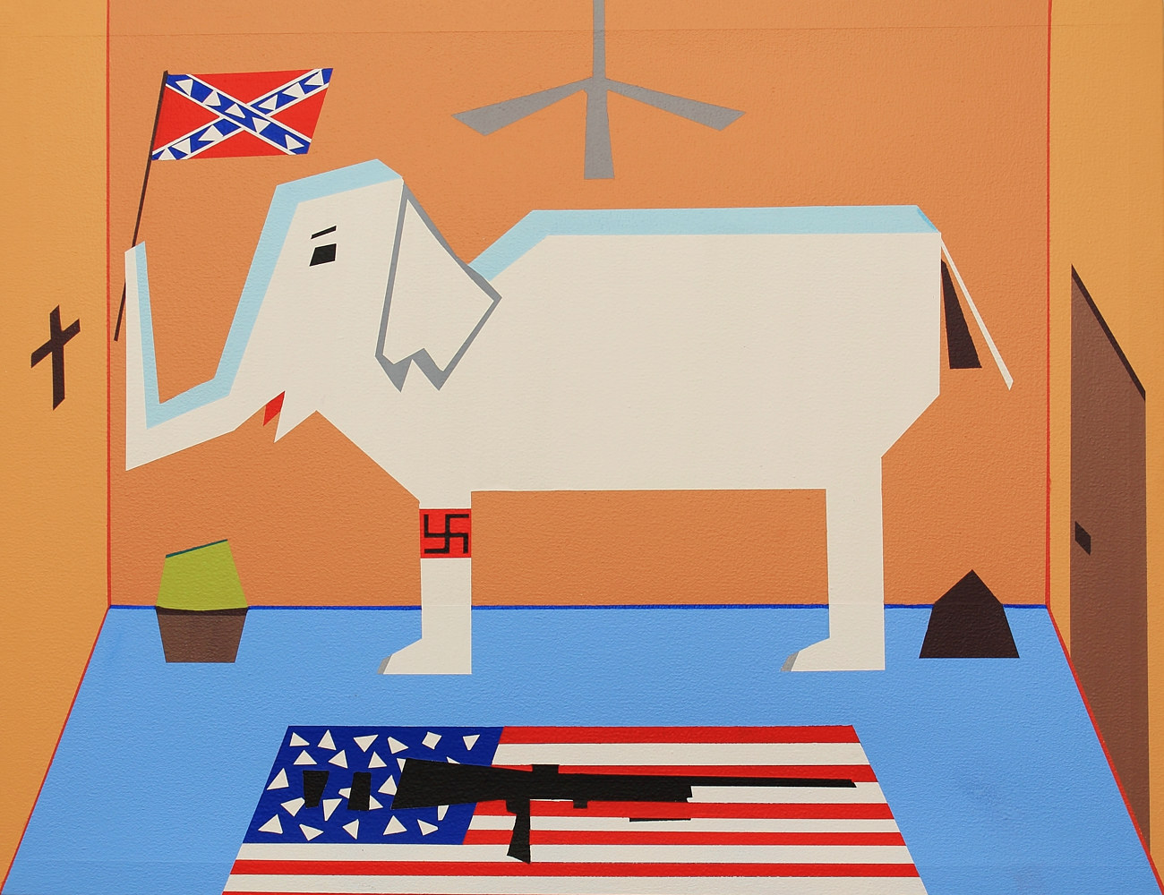 Acrylic painting The White Elephant in the Room by Jorge Puron