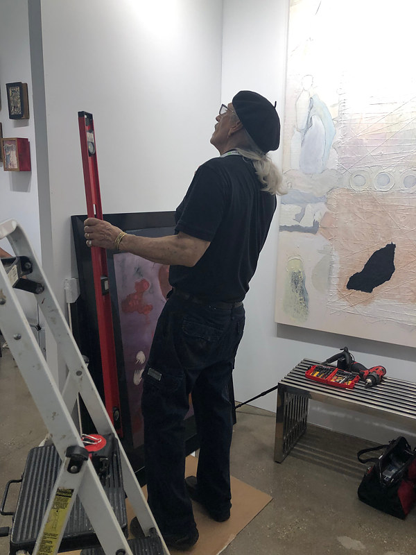 DonRio preparing exhibition  by Patricia Rain Gianneschi