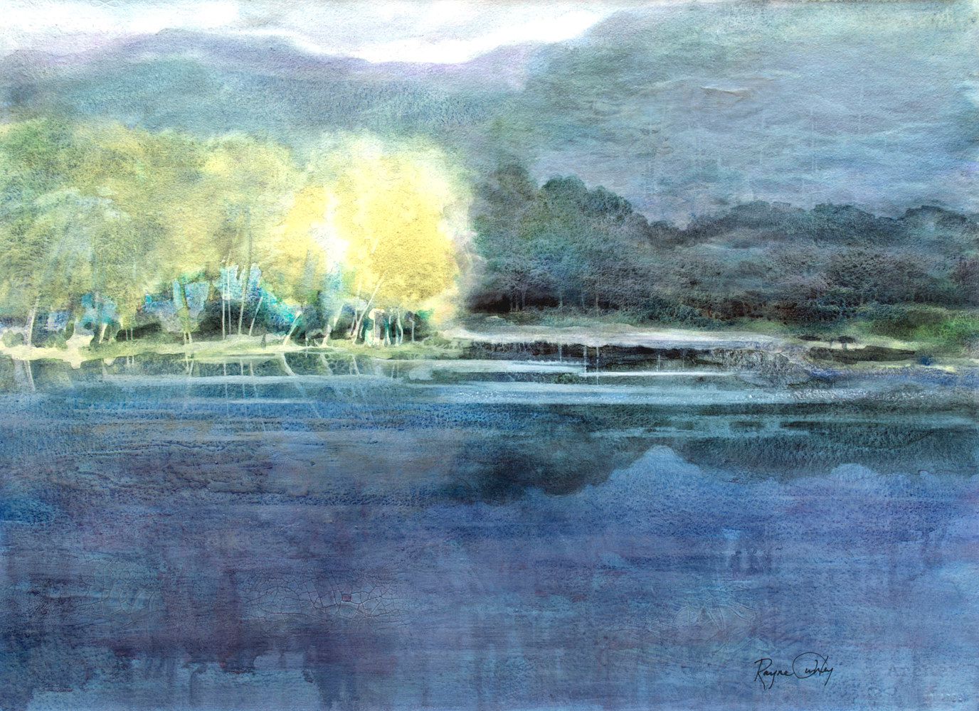 Rayne Tunley, Canoe Lake, 22in x 30in, watercolour smaller image by Rayne Tunley