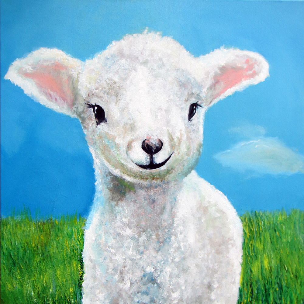 Acrylic painting Sweetest Little Face by Terry Cox-Joseph