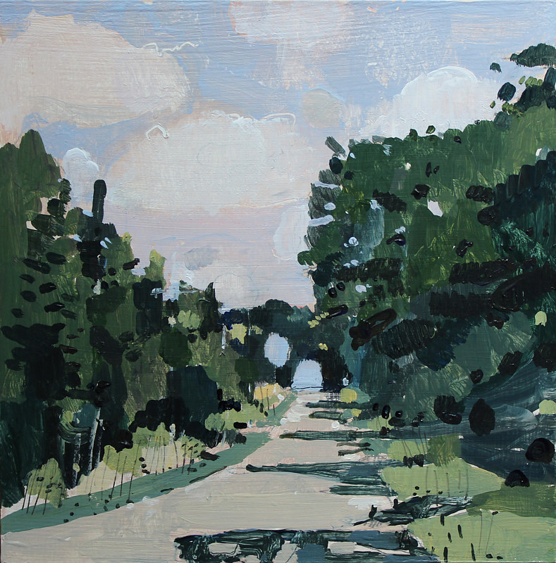 Acrylic painting Canopy Road by Harry Stooshinoff